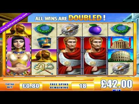 £111 SUPER BIG WIN (138 X STAKE) ROME & EGYPT™  BIG WIN ONLINE SLOTS AT JACKPOT PARTY CASINO