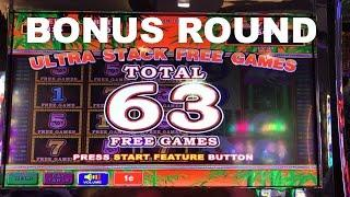 Ultra Stack Panda Live Play max bet with Bonus 63 free spins Nice Win Slot Machine