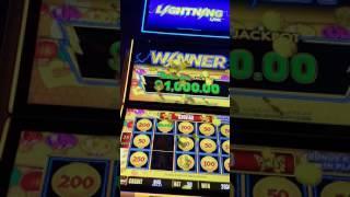 $1000 Major Jackpot HOLD & SPIN Lightning Link Slot Machine $5 bet