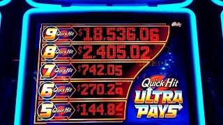 QUICK HIT ULTRA PAYS Slot Machine MAX BET Bonuses & QUICK HIT Jackpots Won!Great Session/$400 Profit