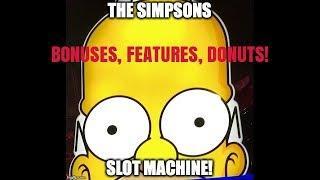 THE SIMPSONS SLOT MACHINE BONUS-FEATURES, FUN!