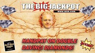 •️ BONUS ROUND HANDPAY •️ on • DOUBLE DAVINCI DIAMONDS •