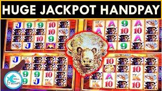 HUGE JACKPOT HANDPAY! • SPINNING FORTUNES SLOT MACHINE • BUFFALO GOLD!