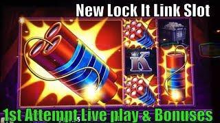 •FUN ! NEW LOCK IT LINK !•Cats, Hats & More Bats / Eureka Reel Blast ! Slot machine (5 cent ) •彡栗スロ