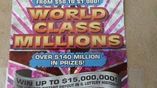 $30 Instant Lottery Ticket - World Class Millions Scratchcard Video
