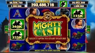 ZORRO Video Slot Casino Game with a MIGHTY CASH BONUS