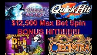 •$12,500 Grand Spin BONUS HIT Casino Video Slot Machine Jackpot Handpay Aristocrat Live Play • SiX S