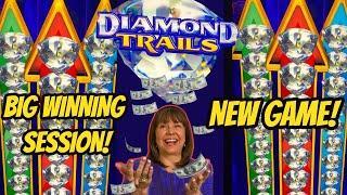 NEW KONAMI GAME! DIAMOND TRAILS-$5 BET-BIG WINNING SESSION!