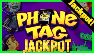 I WON A JACKPOT HAND PAY On Phone Tag Slot Machine Using THIS Betting Method!