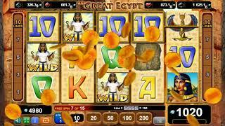 The Great Egypt online slots - 1,1178 win!