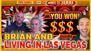 •Brian Gambles with LIVING IN LAS VEGAS! • • Slot Machine Pokies w Brian Christopher