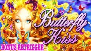BONUS AND RE-TRIGGER ON BUTTERFLY KISS SLOT * LETS PLAY SOME OLDIES * OUTBACK JACK .....REALLY....