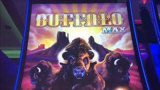 •NEW!! BUFFALO MAX•Re-Trigger Festival Buffalo Max Slot machine (Aristocrat) @San Manuel Casino•彡栗