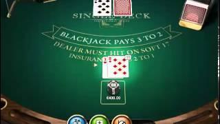 Big Win Single Deck Blackjack Redbet Casino