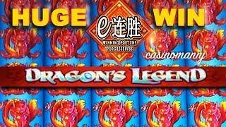 HUGE WIN!! Winning Fortune Progressives - Dragon's Legend - Slot Machine Bonus