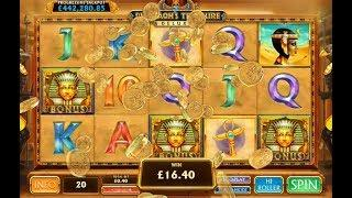 Pharaoh's Treasure Deluxe Online Slot from Playtech with Progressive Jackpot