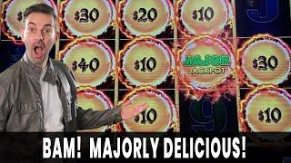 • MAJORLY DELICIOUS! • DOUBLE MAJORS?! • First Spin BONUS on Dragon Link at Agua Caliente #ad