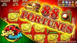 HITS & BONUSES on 88 Fortunes - Duo Fú Duo Cái  !!! 1c Bally Video Slot