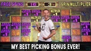 • My BEST Picking Bonus EVER on • Pharaoh's Fortune Slots
