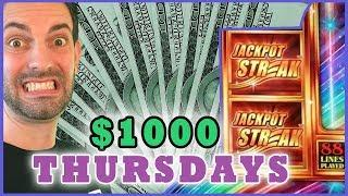 • $1000 Jackpot Streak • Thousand Dollar Thursdays • Slot Machines and Pokies w/ Brian Christopher