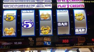 Triple Double RED HOT Strike 9 Lines@ San Manuel Casino 赤富士スロット, カリフォルニア カジノ, スロットゲーム