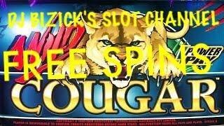 Wild Cougar Slot Machine ~ FREE SPIN BONUS!!!! ~ Bay Mills Casino! • DJ BIZICK'S SLOT CHANNEL
