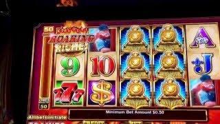 Roaring Riches Slot Back to Back Bonuses- Ainsworth