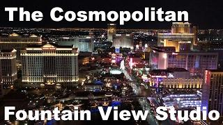 The Cosmopolitan Las Vegas Terrace Studio fountain Hotel Room and View East Tower