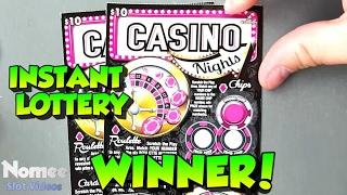 WINNER - $10 Casino Nights Scratch Ticket from the Connecticut Lottery