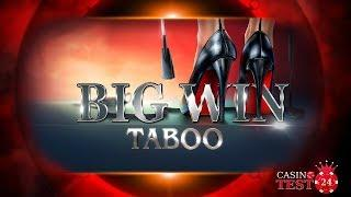 BIG WIN ON THE NEW TABOO SLOT - 2,50€ BET!