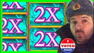 TRUE STORY: I WORE THE RUSSIAN HAT TO GO VOTE! Slot Machine BONUSES With SDGuy1234