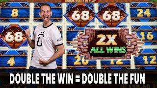 • DOUBLE the Win = • DOUBLE the Fun • Outback Bucks Slots
