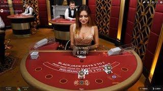 £500 Vs Live Blackjack VIP Table Min £100 Bets