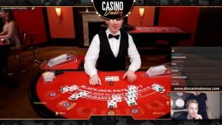 Blackjack Live Dealer - Streamed Live on youtube and Twitch.tv - Casinodaddy