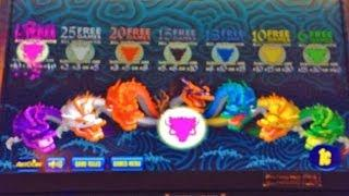 Aristocrat's 5 Dragons  Deluxe Slot Machine - Mystery Choice (Part 1)