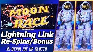 Moon Race Lightning Link Slot - Live Play with Re-Spin Feature and Nice Free Spins Win