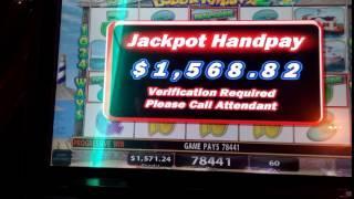 HAND PAY••LOBSTERMANIA 2••Progressive 2 Cent Slot Machine**MOM'S WIN!
