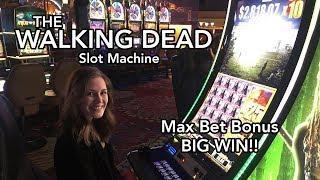 Walking Dead 2 Slot Machine Max Bet! BIG WIN!!! BONUSES!