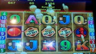Double Agent Slot Machine Bonus - 15 Free Games with All Wins Tripled - Nice Win