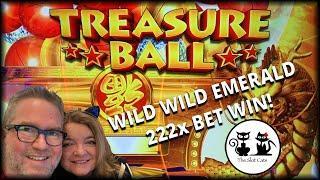 222X  BET WIN! ★ Slots ★ TREASURE BALL ★ Slots ★ WILD WILD EMERALD