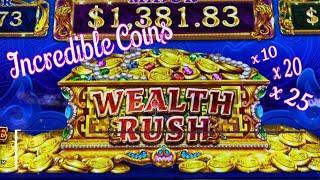 ⋆ Slots ⋆I CAN'T STOP PLAYING !!⋆ Slots ⋆WEALTH RUSH (INCREDIBLE COINS) Slot (SEGA) $5.00 Bet⋆ Slots