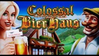WMS Colossal Bier Haus Slot Bonus & Line Hit NICE WIN