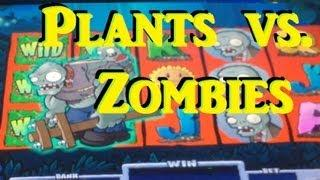 Plants Vs Zombies Slot Machine Bonus - BIG WIN Free Spins! ~ Spielo (Plants Zombies)