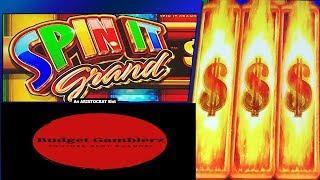 SPIN IT GRAND ~ 1 Spin / 2 Progressives ~ Big 150x Bonus Win ~ Live Slot Play @ San Manuel