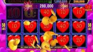 HEART THROB Video Slot Casino Game with a HOLD & SPIN BONUS