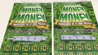 Money Money Money - TWO $10 Instant Lottery Tickets