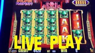Gold Stacks Golden Prosperity live play at max bet $6.80 Aristocrat Slot Machine