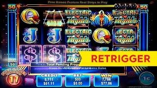 Electric Nights Slot - $5 Max Bet - RETRIGGER FRENZY!