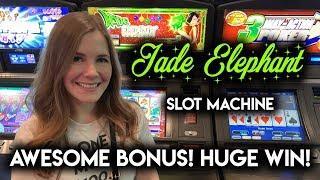 MASSIVE WIN! Jade Elephant Slot Machine BONUS + WINNING BIG at Gambino Slots!
