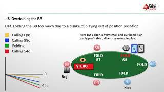 Poker Pitfalls - Episode 18, Overfolding The Big Blind